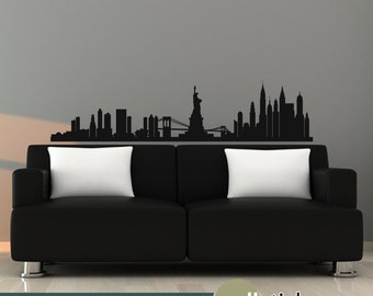 New York Skyline Wall Decal Vinyl Wall Art Decal Wall Decor - WD0329