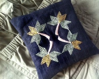 Quilt pattern Leaves embroidered wrist rest for computer work Mini Pillow or owie pad