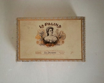 cigar box | box for assemblages | shabby cigar boxes | assemblage box | craft supplies | La Palina cigar box | shabby wooden boxes