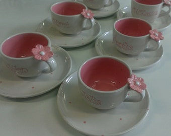Personalized Tea cup & Saucer(adult size)