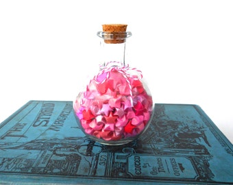 Pink Origami Star Potion in a Bottle