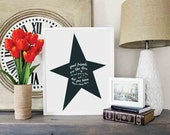 Printable - Stars Like Friends - INSTANT DOWNLOAD 5x7 and 16x20