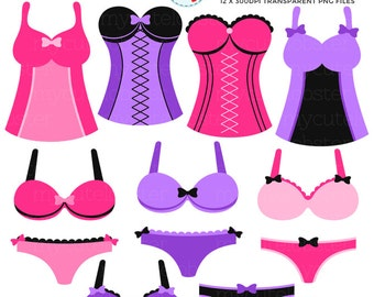 Clip Art Lingerie Clip Art lingerie clipart etsy set clip art of bras corsets knickers pretty pink personal use small commercial instant download