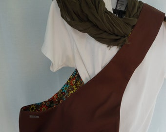 Pet Sling Just Basic Reversible- Large- Chocolate and Flowers-40% off Use coupon code SUMMER