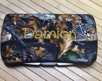Personalized Baby Mossy Oak Deer Hunting Camouflage Wipe Case