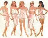 80s Womens Slip, Camisole, Panties, Teddy & Half Slip Butterick Sewing Pattern 5740 Size 6 8 10 Bust 30 1/2 to 32 1/2 UnCut