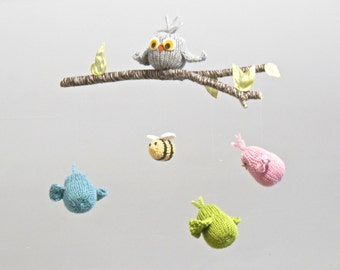 Baby Mobile, Owl Baby Mobile. Woodland Nursery Mobile, Bird Mobile, Bee Mobile, Woodland Crib Mobile, Bird Bee Mobile, Woodland Nursery
