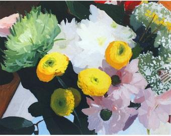 """11x14"""" flower print - """"Bouquet 3""""  - still life"""