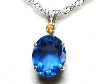 """Blue purple florite, color shift florite, florite necklace, blue, purple, florite,  necklace, """"Night Life"""""""