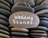 80 Wedding Stones Guest Book Stones Wish Stones Wedding Favor Flat Rocks Flat Beach Stones Wish Rocks Craft Stones Memorial Rocks - 1.5 inch