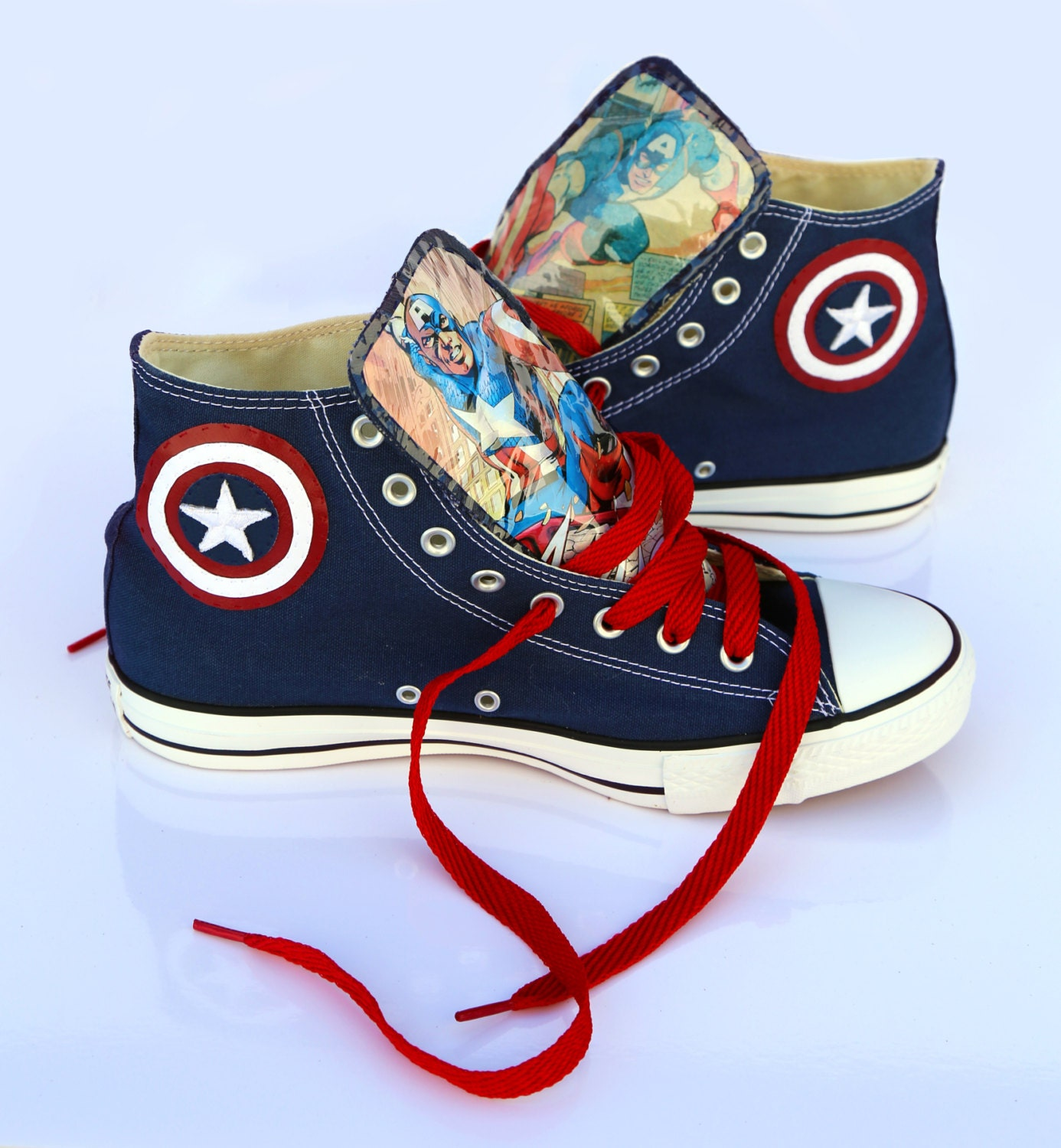 Captain America Converse shoes