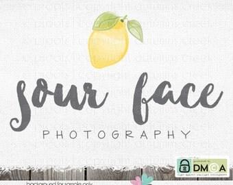 lemon logo premade Logo photography logo fruit logo logos for photographers logos and watermarks watercolor lemon premade logo designs logo