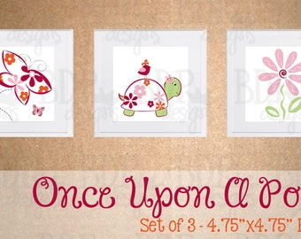 Once Upon A Pond Nursery Art - Set of 3 Prints - Cocalo's Once Upon A Pond