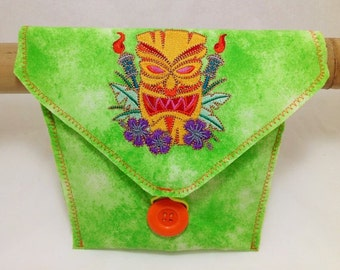 Bicycle Handlebar Bag With A Tiki Torch Embroidery