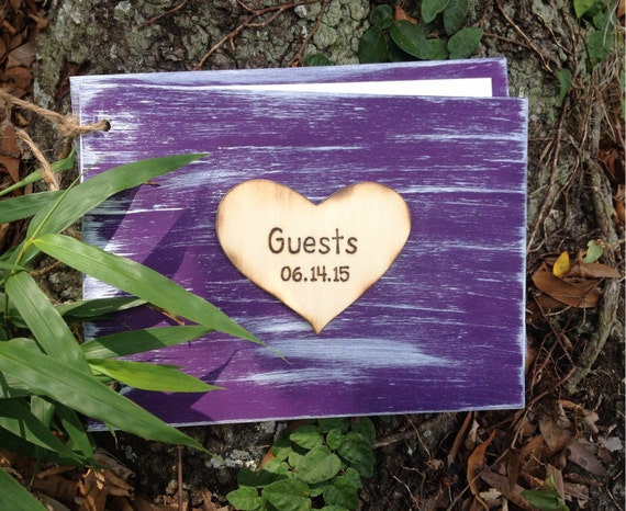 Handcrafted Wooden Guest Book Birthday Wedding Housewarming Guest House Book
