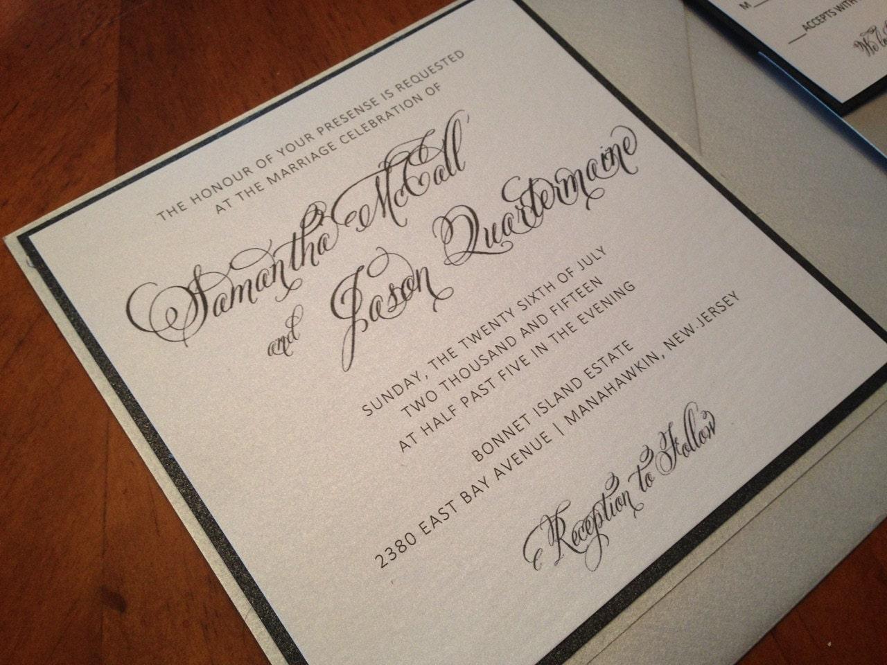 Fancy Wedding Invitations: Modern Wedding Invitation Simple Elegant Wedding Invitation