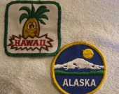 Vintage State Patches Alaska and Hawaii from the 1970's