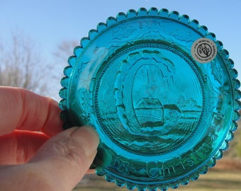 Pairpoint glass company cup plate