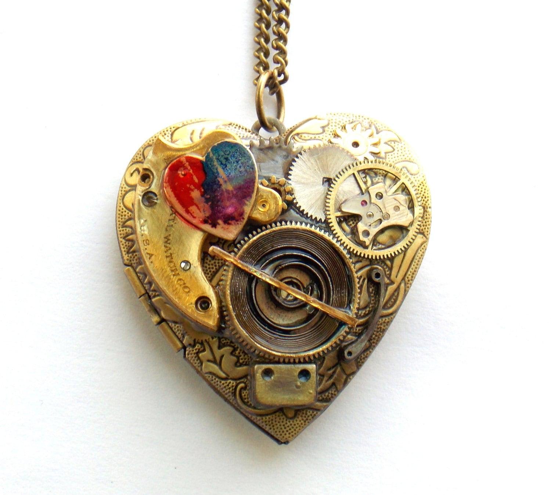 a8130a533d2cc Steampunk Heart Necklace – BEST HOME WALLPAPER