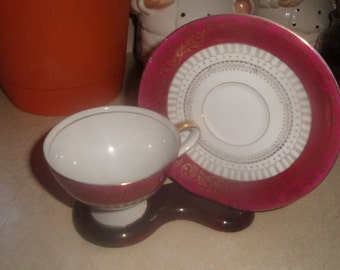 vintage lefton bone china cup saucer set tea coffee