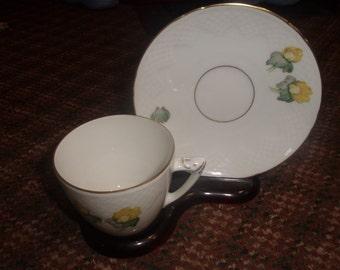 vintage tea cup saucer set bone china copenhagen