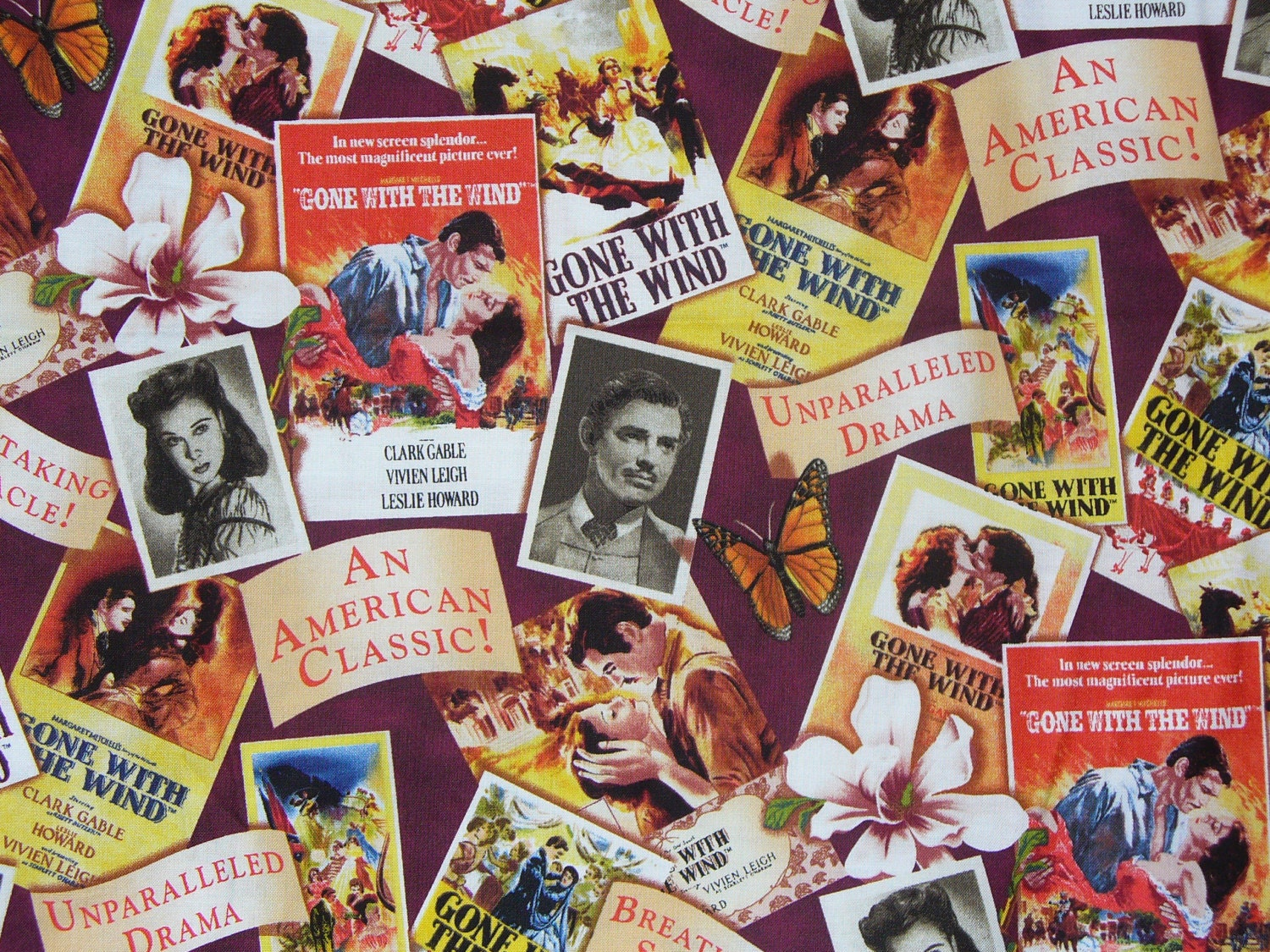 gone with the wind fabric movie posters fabric gone with