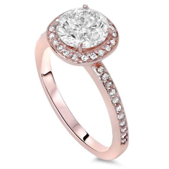 1 00 Carat Diamond Cushion Halo Engagement Ring 14 by Pompeii3