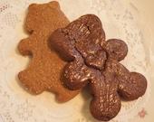 Gingerbread Brown & Teddy Bear Duo Cocoa Gingerbread 2 Bear shapes 1 dozen