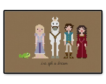 Tangled - Cross Stitch PDF Pattern
