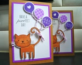 Cat Birthday Card, Kitty Card, Cat Lover Card, Cat Card