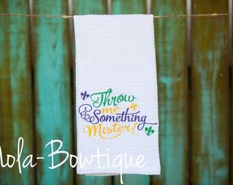 Mardi Gras Dish Towel, Kitchen Decor, Kitchen Towels, Dish Towels