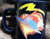 Vintage ZZ Top Coffee Mug 1985 Afterburner Era