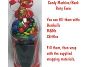 """D-I-Y Gumball Machine / Bank with Giftwrap included - CANDY NOT INCLUDED - 6.25"""" Tall"""