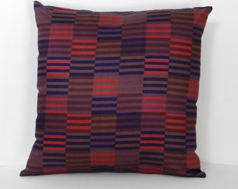 Marimekko Fabric Pillow Cover Hirsi pattern, Purple, Pink, Blue, Brown with invisible zipper, Satin  Finish Home Dec Fabric