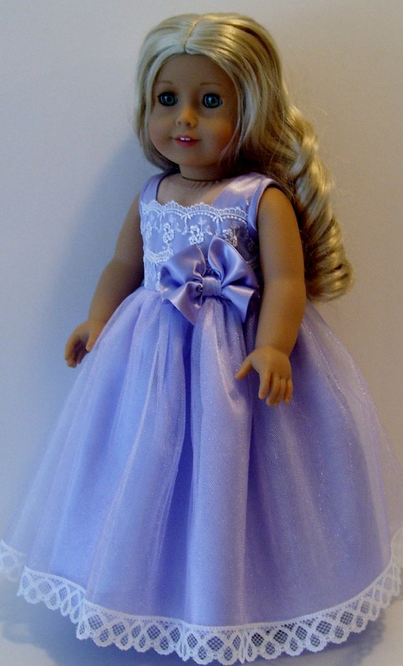 lavender princess dress for american girl and by kathyannedesigns. Black Bedroom Furniture Sets. Home Design Ideas