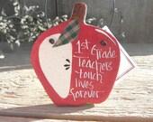 1st Grade Teacher Gift Salt Dough Ornament