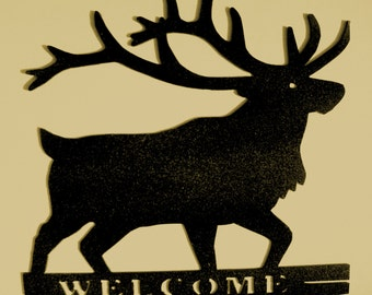 Deer,Metal Art,Cabin,Northwoods,Lodge,Welcome Sign,Wall Decor,Woodsy,Outdoorsy