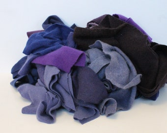 Recycled Cashmere Remnants - Light to Dark Purple 16oz