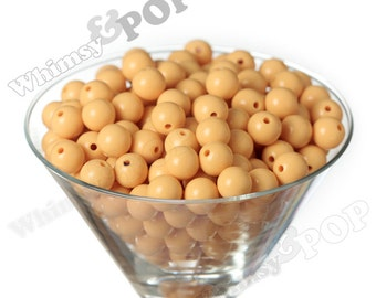 12mm - Goldenrod Yellow Gumball Beads, 12mm Gumball Beads, 12mm Beads, Small Gumball Beads, Opaque Acrylic Round Beads, 2mm Hole
