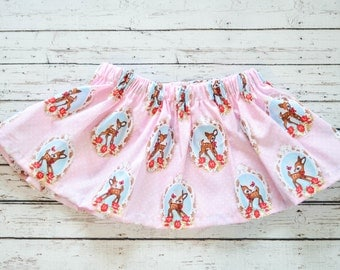 Baby Girl Retro Pink Deer Circle Skirt 6-9 months