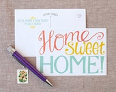 Moving Announcement Postcard - Home Sweet Home fill in the blank change of address card - set of 15