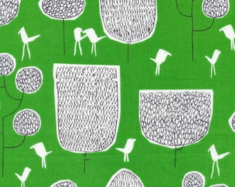 Yoyogi Park Tokoyo Trees in Green, Skinny laMinx, Heather Moore, 100% GOTS-Certified Organic Cotton, Cloud9 Fabrics, 131814