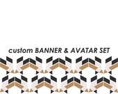 AANGEPASTE banner en avatar set