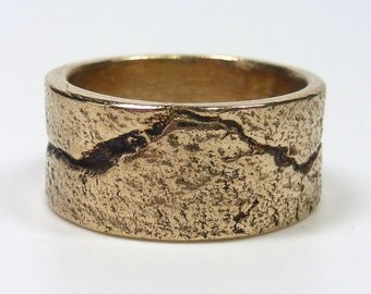 Bronze Ring, Mens or Womens Band Ring, Bronze Band Ring, Modern Bronze Ring, Men's Bronze Ring
