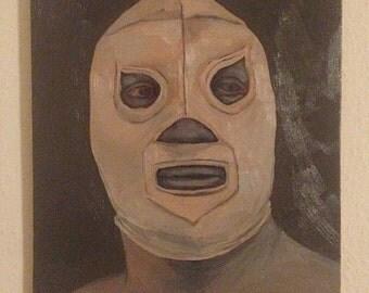 Luchador , El Santo , Oil Painting