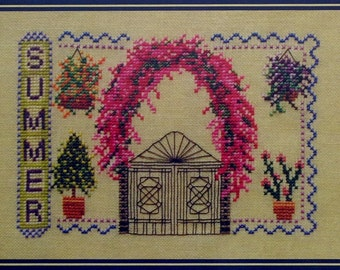 Turquoise Graphics & Designs SUMMER Four 4 Seasons Picture - Counted Cross Stitch Pattern Chart