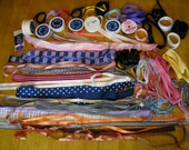 HALF PRICE - RIBBON lot for doll sewing, girl's hairbows, scrapbooking yards upon yards of wide variety