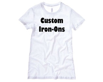 Iron On Decal Etsy - Custom vinyl decals for t shirts wholesale