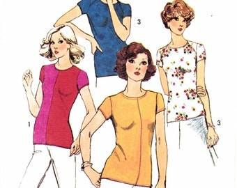 "Nightgown Nightie Pajamas with Short or Long Pants Size xs-s-m Bust 30.5-38"" Simplicity 9012 Womens and Mens Sewing Pattern"