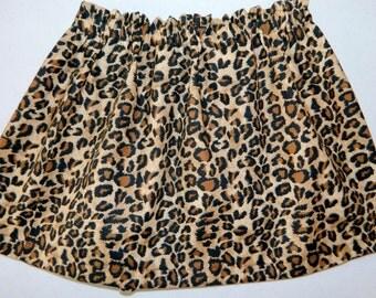 Wild animal leopard cheetah print skirt for girl baby toddler tween- fun birthdays or a trip to the zoo - NB - 16